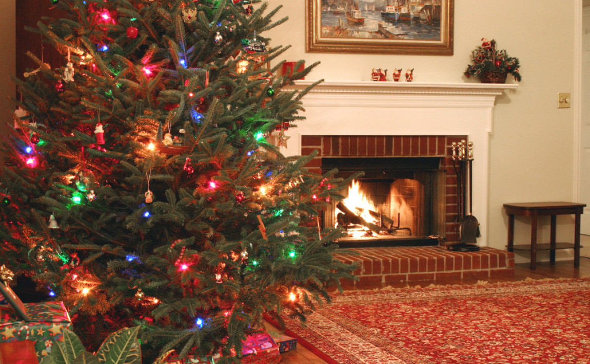 Christmas Trees With Colored Lights Decorating Ideas